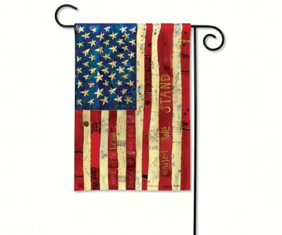 HOME OF THE BRAVE GARDEN FLAG - $11.95