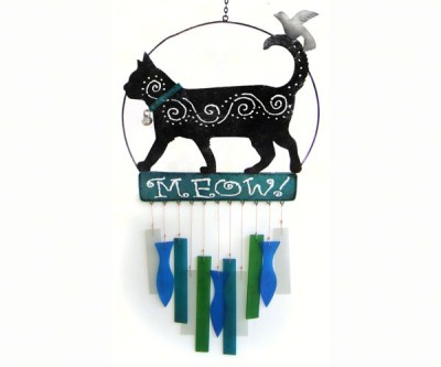 BLACK CAT CHIMES - $32.95