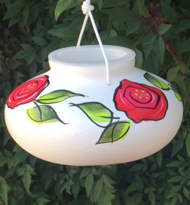 ROSA HUMMINGBIRD FEEDER - $21.95